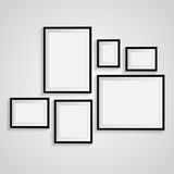 Blank frame on a white background. Vector Stock Photo
