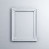 Blank frame on a white wall background Stock Image