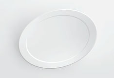 Blank frame on white wall. Vector. Royalty Free Stock Photography