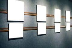 Blank framed canvas Stock Image