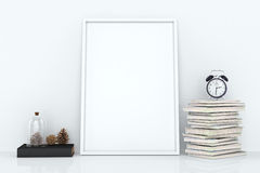Blank frames against the wall Stock Image