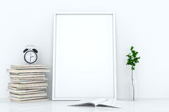 Blank frames against the wall Stock Photography