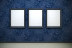 Blank frames in the gallery Stock Photos