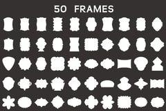50 blank frames.Vector illustration. Set of 50 original blank frames Stock Photo