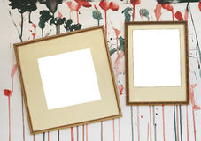 Blank frames with splattered background Royalty Free Stock Image