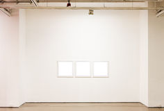 Blank frames on the wall royalty free stock photo