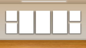 Blank frames on wall - interior gallery Stock Image