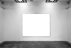 Blank frames on the wall at the museum Royalty Free Stock Photography