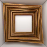 Blank frames on white wall Stock Photography
