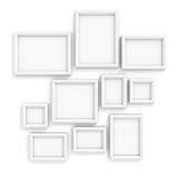 Blank frameworks for pictures and photos royalty free illustration