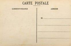 blank fransk vykort Arkivbild