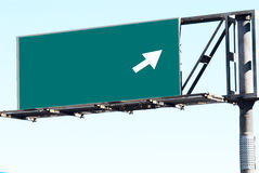 Blank freeway sign Royalty Free Stock Images