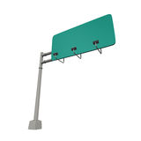 Blank Freeway Sign Stock Photography