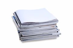 Blank front page magazine Stock Photography