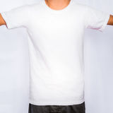 Blank Front white T-shirt template mockup Royalty Free Stock Photos