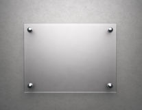 Blank frosted glass Stock Photography