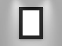 Blank Gallery Frame with Black Border Royalty Free Stock Photography