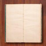blank gammal öppen sida för bokanmärkning Arkivbilder