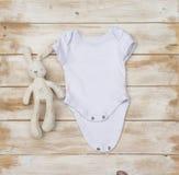 Blank gender neutral white baby bodysuit
