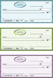 Blank Generic Bank Checks. Illustration Stock Images
