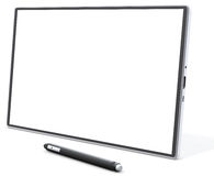 Blank generic tablet pc with pen Stock Photo