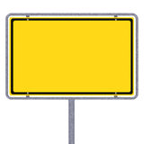 Blank German city limits sign. Over white background Stock Images