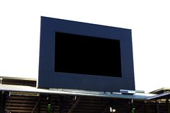 Blank Giant Screen. Blank giant stadium screen over white background Stock Photos