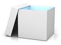 Blank gift box with lid Stock Image