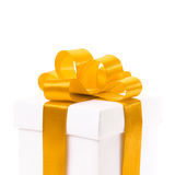 Blank gift box with ribbon and bow Stock Photo