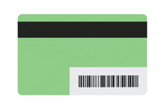 Blank Gift Card. With barcode stock photo