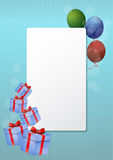 Blank gift card Stock Images