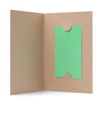 Blank gift card in paper cover Stock Photo