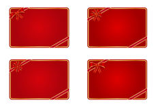 Blank gift cards. Collection of blank gift cards Royalty Free Stock Photos