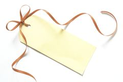Blank gift label Royalty Free Stock Image