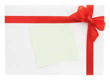 Blank gift with a red bow Royalty Free Stock Images