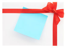 Blank gift with a red bow Stock Photography