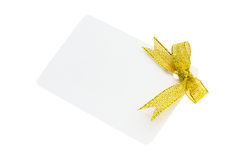 Blank gift tag Stock Image