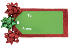 Blank Gift Tag Royalty Free Stock Photo