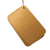 Blank gift tag Stock Photography