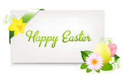 Blank Gift Tag With Egg. Vector Royalty Free Stock Photo
