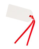 Blank gift tag with red ribbon Royalty Free Stock Photography