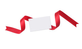 Blank gift tag tied Stock Photo
