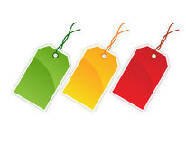 Blank gift tags stock illustration
