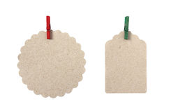 Blank gift tags in different shapes Stock Image
