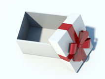 Blank gift on a white background.  Royalty Free Stock Photo