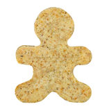 Blank gingerbread man cookie Stock Images