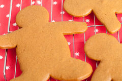 Blank Gingerbread Men on a Cooling Rack Stock Photos