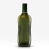 Blank glass bottle. Design, isolated transparent background, 3d illustration Stock Photo