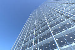 Blank glass facade of curved office building Stock Images