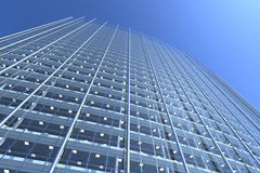 Blank Glass Facade Of Curved Office Building Stock Image